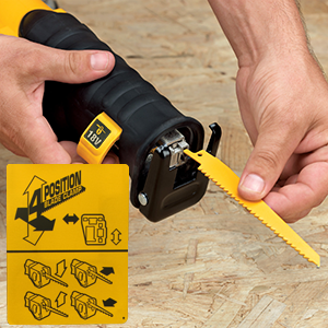 Dewalt dcs380 cordless reciprocating saw tool features and review the electronic motor brake quickly stops the blade as soon as the trigger is fully released increasing user safety with this dewalt reciprocating saw you greentooth Image collections