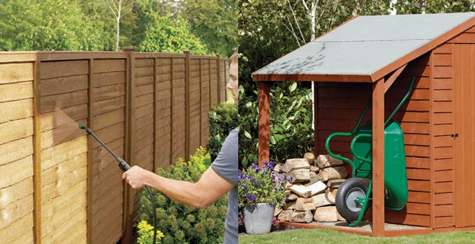 ronseal dark oak fence paint 3