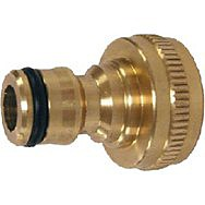 1/2&quot; - 3/4&quot; BSP Brass Threaded Tap Adaptor