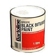 1ltr Tin Bitcote Black Bitumen Paint BS.3416