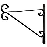 300mm Black Hanging Bracket Bracket