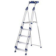 Abru 5 Tread Professional Step Ladder With Grab Rails