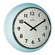 Acctim Delia Duck Egg Blue Retro Wall Clock