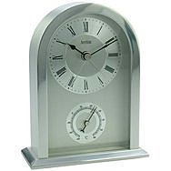 Acctim Highgrove Mantelpiece Clock & Thermometer - Chrome