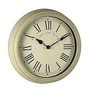 Acctim Towcester Station Wall Clock - Cream