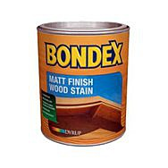 Bondex Matt Finish Wood Stain 0.75L - Ebony