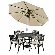 Connemara Mesh Rose Table & Chair Garden Furniture Set