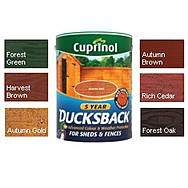 Cuprinol 5 Year Ducksback 5L - Autumn Brown