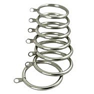 Deville 552Z Classic Silver 30-32mm Curtain Rings (10)