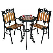 Donard Grape Bistro Garden Table & Two Chairs Set - MC1138