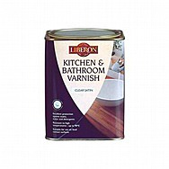 Liberon Kitchen and Bathroom Varnish 1L - Clear Satin