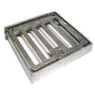 Square Alloy Seal Plate 150 x 150mm Hinge &amp; Lock