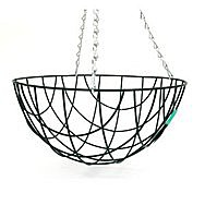 Wire Frame Hanging Basket and Chain - 14""