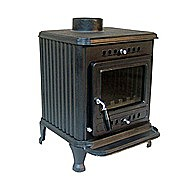 Suffolk Lark Multi Fuel Stove 7 Kilowatt With Large Plain Door