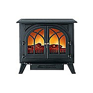 Kingavon Electric Stove 2 Kilowatt CH601 2 Door Imitation Stove