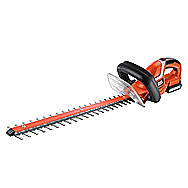 Black &amp; Decker GTC1850L Cordless Hedge Trimmer 18 Volt Hedge Cutter Includes 2 Batteries