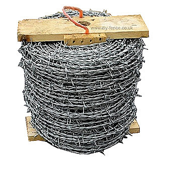 200 Meter Roll Of Galvanised Barbed Wire