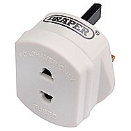 Draper 26453 Shaver Adaptor For 3 Pin Plug
