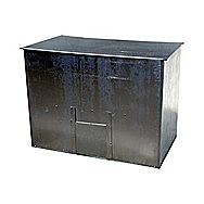De Vielle Galvanised Coal Bunker 500 Kilo Capacity With Sliding Hatch