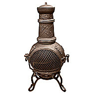 Toledo Grape Pattern Medium Bronze Chimenea