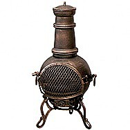 Toledo Large Bronze Patio Chimenea