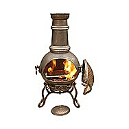 Toledo Medium Bronze Garden Chimenea