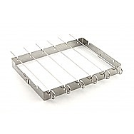 Outback BBQ Stainless Steel Barbecue Kebab Rack With Skewers