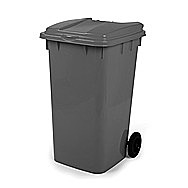 Black / Grey Wheelie Bin 240 Litre