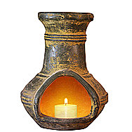 Gardeco Tabletop Chimenea Anillos With Vanilla Scented Candle