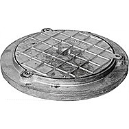 Round Galvanised Alloy Inspection Cover 320 mm