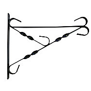 Decorative Black Hanging Basket Bracket