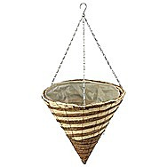 Apollo Raffia Cone Shaped Hanging Basket