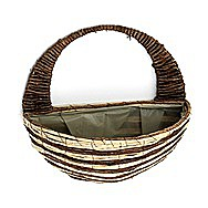 Apollo Raffia Wall Mounted Hanging Fower Basket 12 Inch