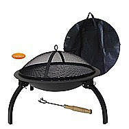 Lucio Portable Fire Bowl Patio Fire And Barbecue 