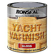 Ronseal Clear Gloss Yacht Varnish 0.25 Litres