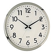 Acctim Orion 21287 Silent Wall Clock Silver/White