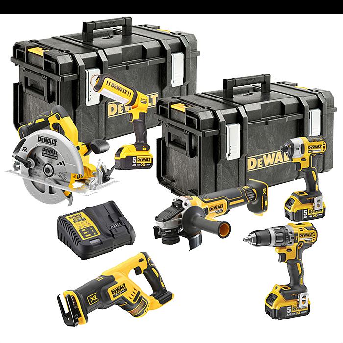 DeWalt DCK623P3 18v XR Compact Brushless 6 Piece Kit with 3x 5.0Ah Batteries