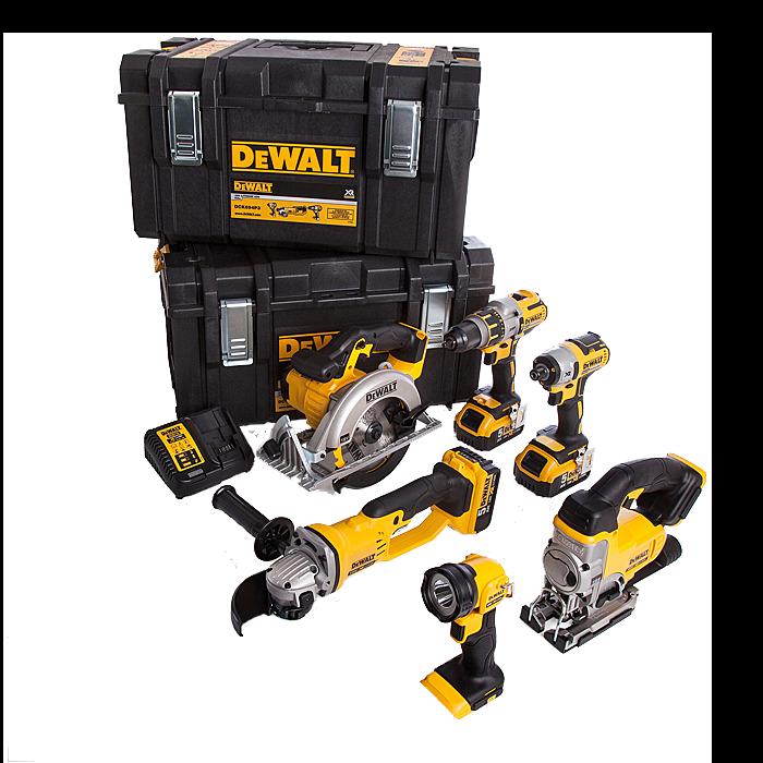 Dewalt DCK694P3 XR Cordless 6 Pack 18 Volt 5.0AH 6 Piece Kit