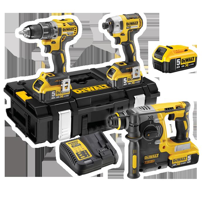 DEWALT 18V Triple Pack With Free Battery