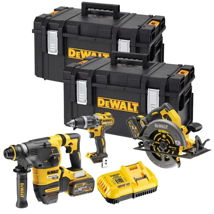 DeWalt DCK357T2 Triple Pack DCD796 + DCH333 + DCS575