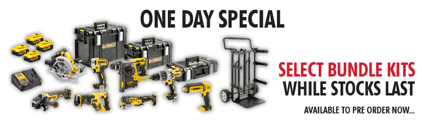 Great Savings on DeWalt Bundle Kits this day only