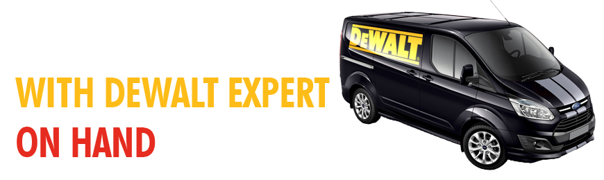 Visit Us In Store To See The DeWalt Demo Van