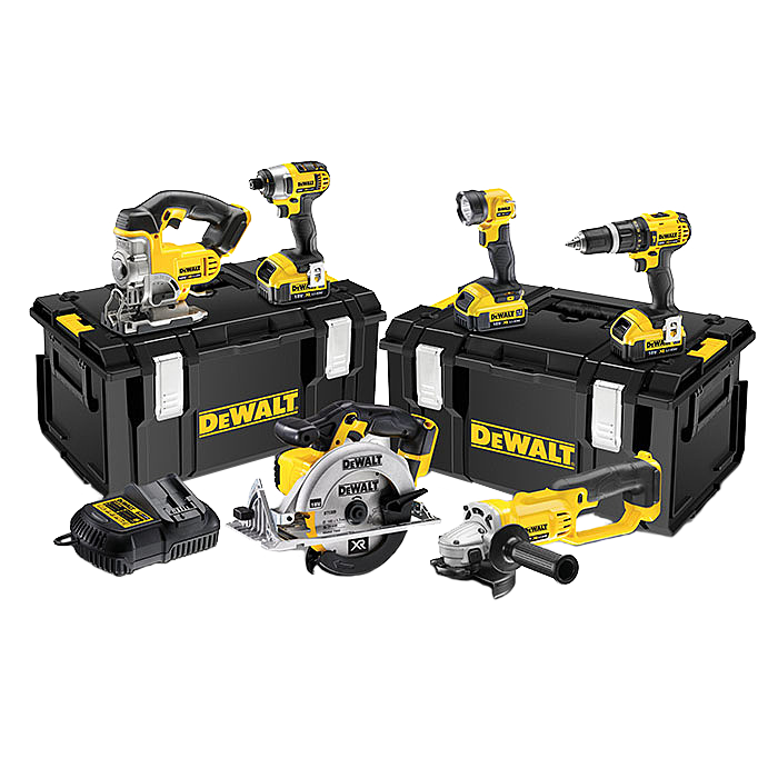 DEWALT DCK691M3 XR Combo Pack 18 Volt 6 Piece With Tough Boxes