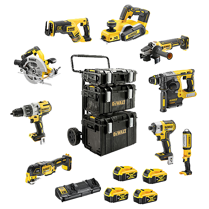 DEWALT 9 Piece Heavy Duty Brushless Kit DCK853P4 + DCP580
