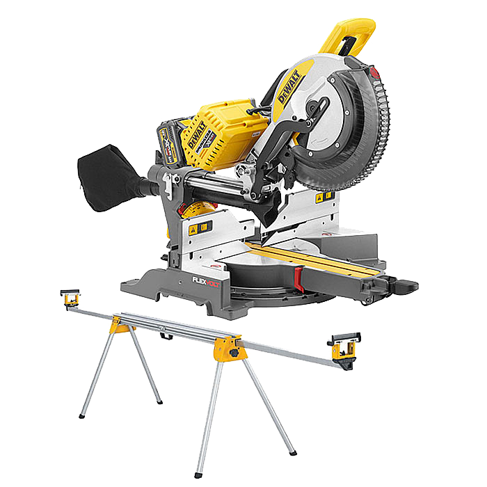 DEWALT DHS780T2 54V Mitre Saw With Leg Stand