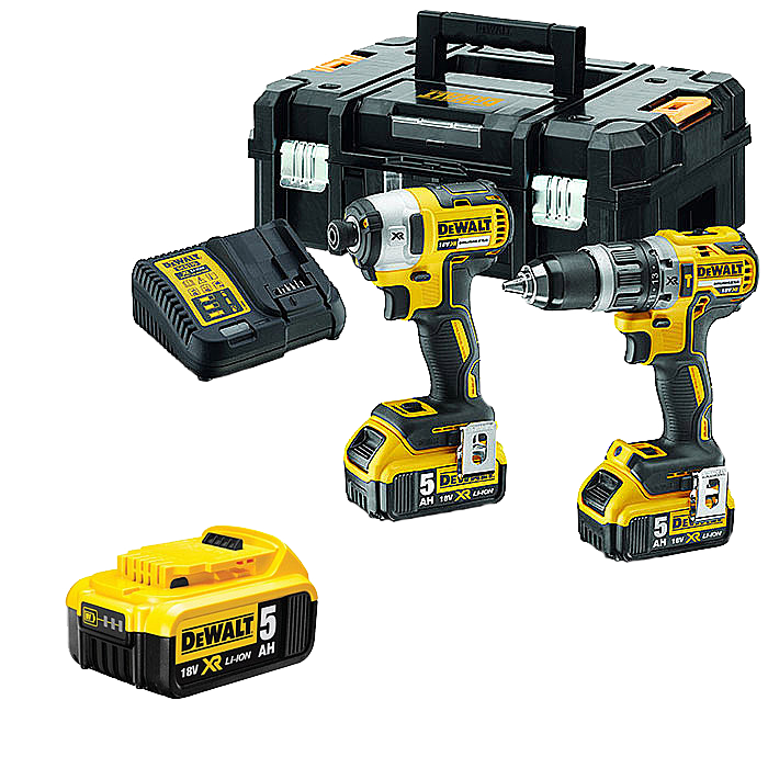 DEWALT DCK266P2T With Extra Battery