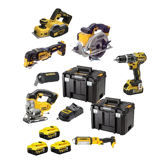 DEWALT DCK665P3T 18V 6 Piece Kit With Free 4th Battery